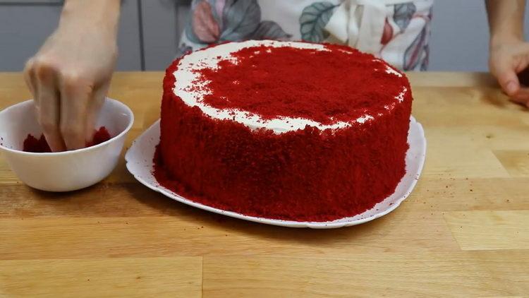 """Торт """"Красный бархат"""" по пошаговому рецепту с фото"""