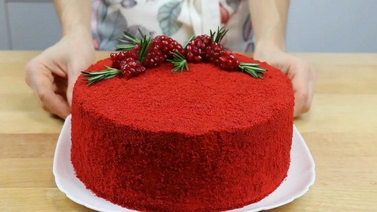 торт красный бархат готов