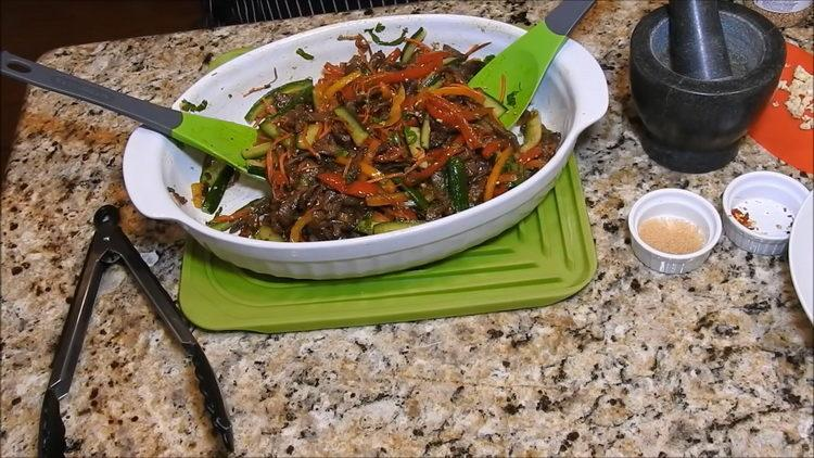 Мясо по-корейски по пошаговому рецепту с фото