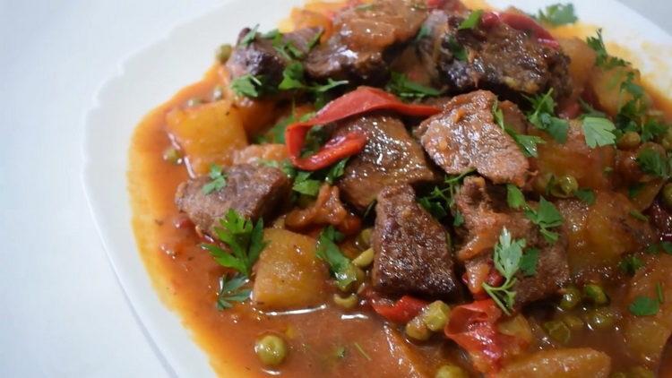 Мясо с овощами по пошаговому рецепту с фото