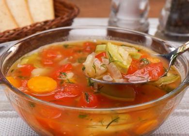 Рецепт простого овощного 🥝 супа с помидорами