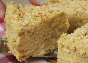 Торт Наполеон без выпечки по пошаговому рецепту с фото
