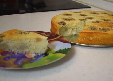 Рецепт вкусного бананового 🥝 пирога в духовке