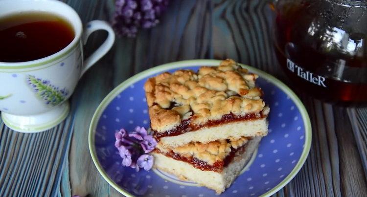 Вкусный и очень простой пирог с джемом
