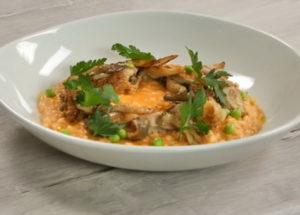 Ризотто с курицей и грибами по пошаговому рецепту с фото