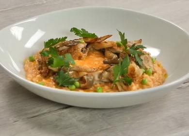 Вкусное ризотто с курицей 🥝 и грибами