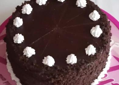 Шоколадный торт с вишней 🥝