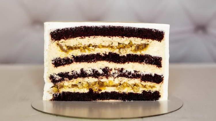 торт с кремом чиз