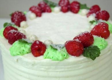 Нежнейший торт с кремом 🥝