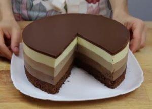 очень вкусный торт три шоколада
