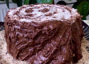 готовим бесподобный торт трухлявый пень