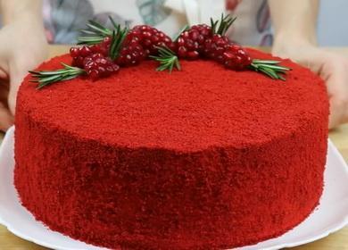 Яркий и вкусный торт 🥝 «Красный бархат»