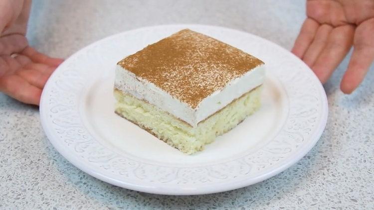 """Торт """"Три молока"""" по пошаговому рецепту с фото"""