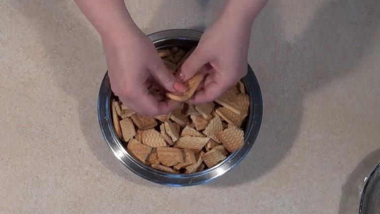 подготовьте печенье