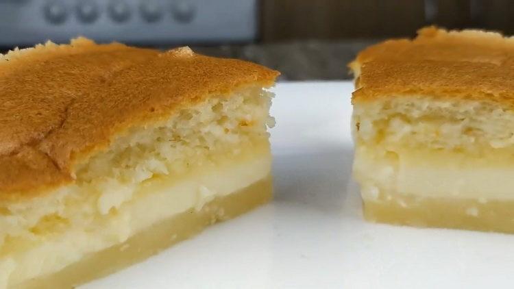 """""""Умное пирожное"""" по пошаговому рецепту с фото"""