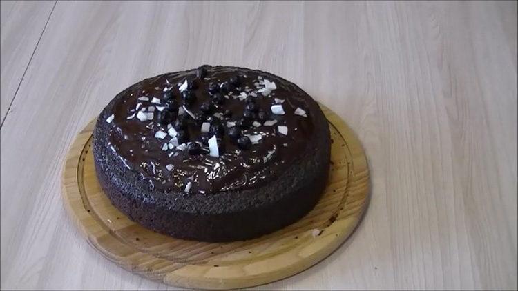 Невероятно вкусный шоколадный торт на раз два три